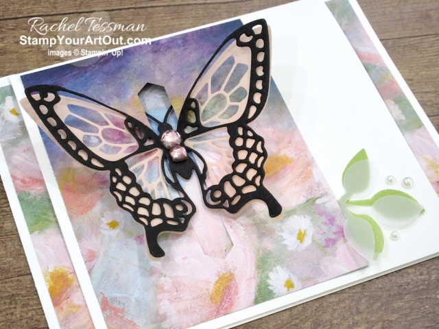 Click here to see a new version of the closure card using the Butterfly Beauty Dies, the Classic Label Punch, the Perennial Essence Designer Paper, the Perennial Essence Vellum Cardstock, and the Good Morning Magnolia Stamp Set. Watch my video so you can see all my tips and tricks and get the step-by-step directions (& see peeks at upcoming new products)! You'll also be able to access measurements, other close-up photos, and links to the products I used. #stampyourartout #stampinup - Stampin' Up!® - Stamp Your Art Out! www.stampyourartout.com