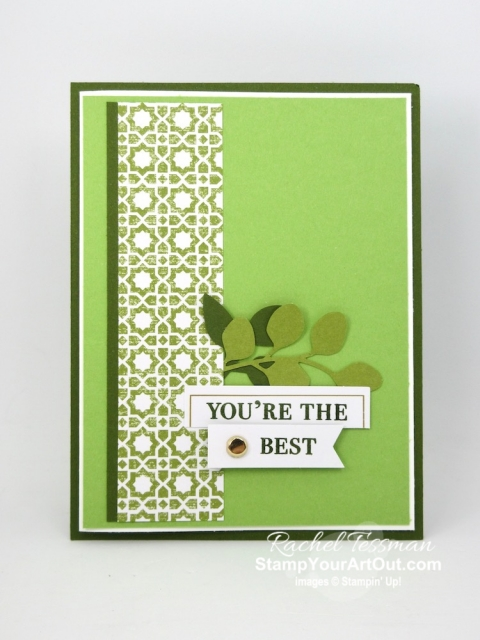 I created another card with the July 2019 On My Mind Paper Pumpkin kit. I designed it to send to a few of my Paper Pumpkin subscribers. Click here for directions, measurements and supplies. #onestopbox #stampyourartout #stampinup - Stampin' Up!® - Stamp Your Art Out! www.stampyourartout.com