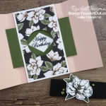 Click here to see four beautiful shutter fold cards that I made with the Magnolia Line of products. You'll be able to watch my video so you can see all my tips and tricks and get the step-by-step directions. You'll also be able to access measurements, other close-up photos, and links to all the products I used. #stampyourartout #stampinup - Stampin' Up!® - Stamp Your Art Out! www.stampyourartout.com