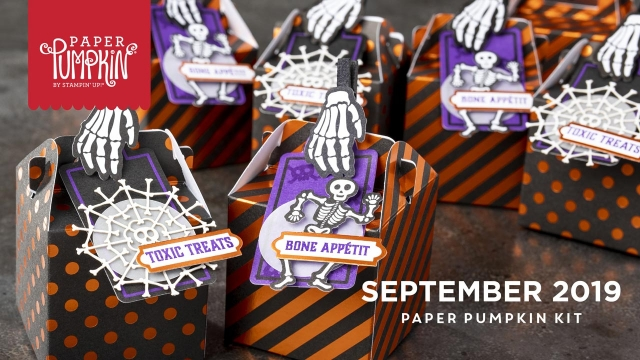 The September 2019 Bone Appétit Paper Pumpkin kit. - Stampin' Up!® - Stamp Your Art Out! www.stampyourartout.com