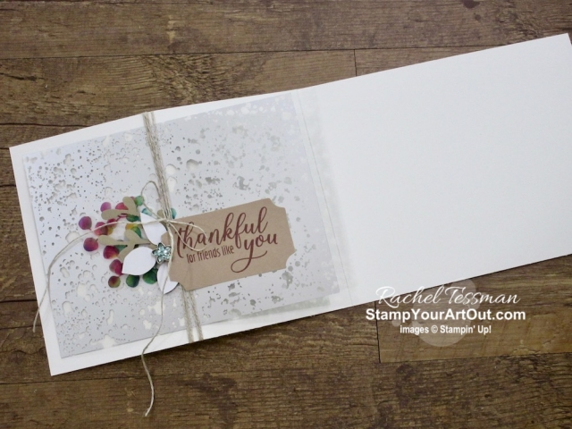 I created another card with the August 2019 The Gift of Fall Paper Pumpkin kit. I designed it to send to a few of my Paper Pumpkin subscribers. Click here for directions, measurements and supplies. I also created a mini album from this kit and the Gift of Fall Add-On kit envelopes. Click here to see more photos. - Stampin' Up!® - Stamp Your Art Out! www.stampyourartout.com