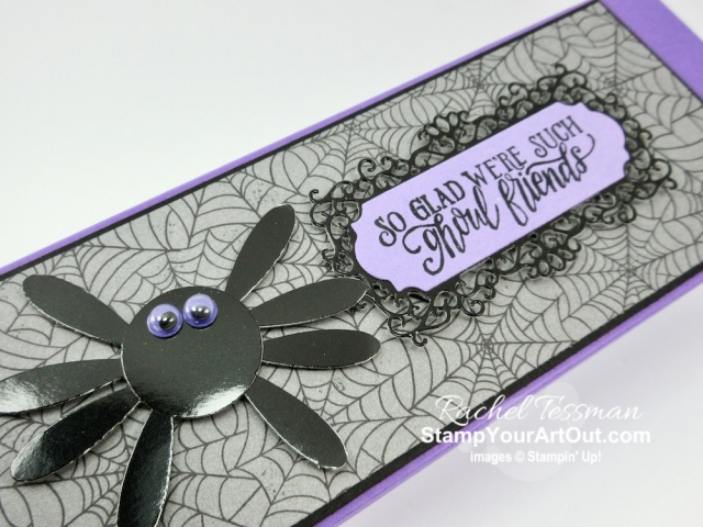 "I made more pencil boxes. This time I made them with products from our Monster Bash Suite. Oh! And that spider?...It's made with the 1"" Circle Punch and the Daisy Punch. Click here for more details and a list of products I used to make my flowers. - Stampin' Up!® - Stamp Your Art Out! www.stampyourartout.com"