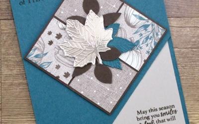Gathered Leaves Corner-Cut Card