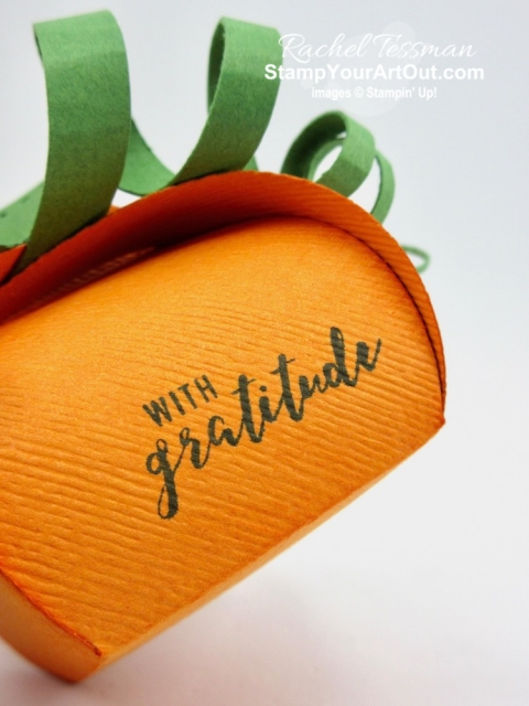 Click here to see four fun, autumn-themed Mini Curvy Keepsakes Boxes that I made with new products from the 2019 Holiday Catalog. You'll be able to watch my video so you can see all my tips and tricks and get the step-by-step directions. You'll also be able to access measurements, see other close-up photos, and get links to all the products I used.