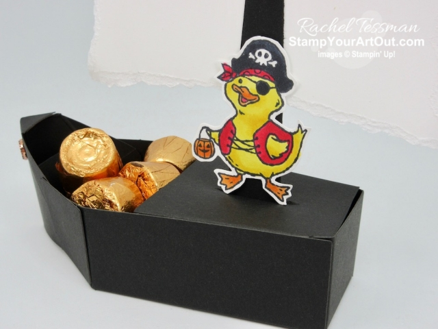 What else can you make with the adorable Coffin Treat Box from the Monster Bash Suite in the 2019 Holiday Catalog? How about a pirate boat treat box?! Click here to see two pirate boat boxes using the Coffin Treat Boxes and the Birds of a Feather Stamp Set. - Stampin' Up!® - Stamp Your Art Out! www.stampyourartout.com