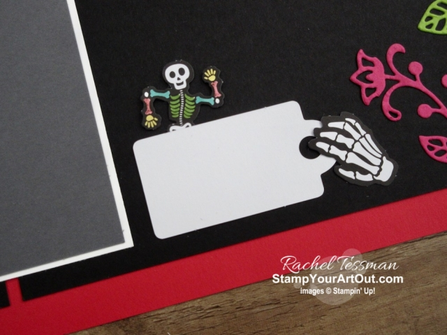 "Click here to see & get details for this Day of the Dead scrapbook page I made with the September 2019 Bone Appétit Paper Pumpkin Kit. Plus you can see several other alternate project ideas created with this kit in our blog hop: ""A Paper Pumpkin Thing""! - Stampin' Up!® - Stamp Your Art Out! www.stampyourartout.com"
