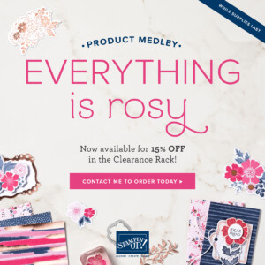The Everything Is Rosy Product Medley is now available for 15% off through the Clearance Rack! - Stampin' Up!® - Stamp Your Art Out! www.stampyourartout.com