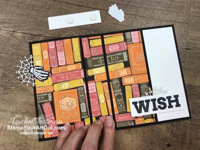 "Here is another 3-Panel Scenery Z-Fold that I created with the September 2019 Bone Appétit Paper Pumpkin kit, the Monster Bash Designer Paper, and the Broadway Birthday Stamp Set. This is a great way to show off connected images or multiple images when you want to use a full 6"" wide piece of designer paper. Click here to access measurements, see other close-up photos, get links to all the products I used, and find links to other 3-Panel Scenery Z-Fold cards I've made recently. - Stampin' Up!® - Stamp Your Art Out! www.stampyourartout.com"