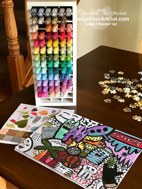 Luke has discovered that Stampin' Blends Markers work great for his graffiti doodles. - Stampin' Up!® - Stamp Your Art Out! www.stampyourartout.com