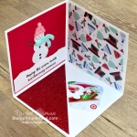 Maui Achievers Blog Hop October 2019: I created a fun Corner Pop Up Gift Card Holder with products from the Let It Snow Suite: Snowman Season Stamp Set, Snowman Builder Punch, Let It Snow Designer Paper, and the Let It Snow Embellishment Kit. Click here to get the directions, measurements and supplies AND to see other great ideas shared by fellow Stampin' Up! demonstrators who also earned this fabulous incentive trip taking place in July 2020! - Stampin' Up!® - Stamp Your Art Out! www.stampyourartout.com