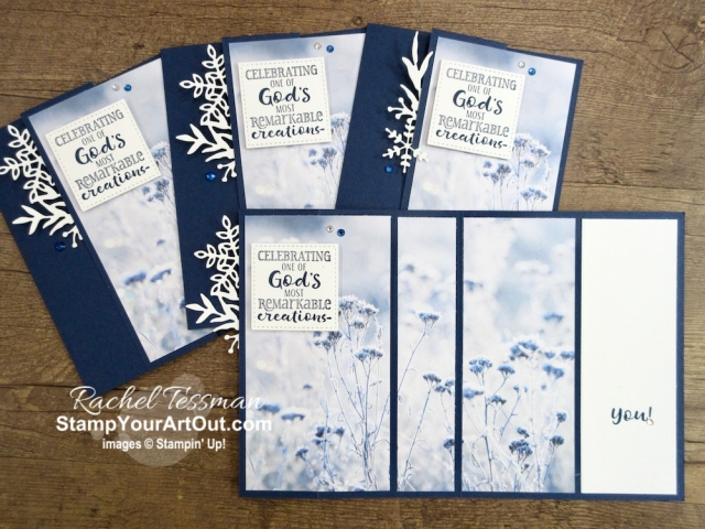 Here are a few more 3-Panel Scenery Z-Fold that I created with the Feels Like Frost Designer Paper. - Stampin' Up!® - Stamp Your Art Out! www.stampyourartout.com