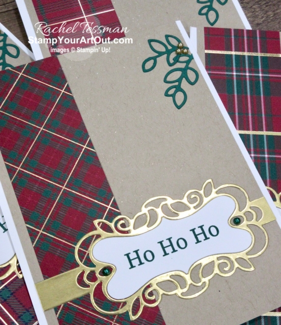 Maui Achievers Blog Hop November 2019: I created a z-fold card centered around my extra strips of Wrapped in Plaid Designer Paper, the Detailed Bands Dies, the Champagne Mist Shimmer Paint, and images from the coordinating Perfectly Plaid Stamp Set and the Free As a Bird Stamp Set. Click here to get the directions, measurements and supplies AND to see other great ideas shared by fellow Stampin' Up! demonstrators who also earned this fabulous incentive trip taking place in July 2020! - Stampin' Up!® - Stamp Your Art Out! www.stampyourartout.com