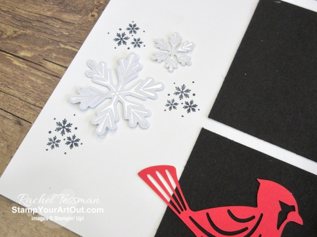 I'm excited to share with you what I created with the November 2019 Winter Gifts Paper Pumpkin Kit: 2 sets of 48 Holiday cards, a 12x12 scrapbook page layout, and two treat bag toppers. Click here for photos of all these projects, a video with directions, measurements and tips for making them, and a complete product list linked to my online store! - Stampin' Up!® - Stamp Your Art Out! www.stampyourartout.com