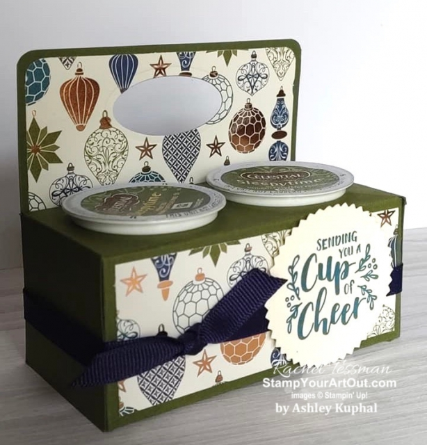 My Stampers With ART Showcase Stamper for the month of November 2109 created some fun cards and gifts with the Cup of Christmas Stamp Set and Cup of Cheers Dies. Click here to see all of Ashley Kuphal's creations. - Stampin' Up!® - Stamp Your Art Out! www.stampyourartout.com