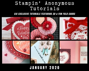 Stampin' Anonymous Tutorials contain 6 EXCLUSIVE 'better than flat' projects (fun fold cards or 3-D items) created by me and 5 other talented Stampin' Up! demonstrators. Place an order in the month of January 2019, and get this bundle for free! Or choose the option to purchase any of the bundles for just $9.95. - Stampin' Up!® - Stamp Your Art Out! www.stampyourartout.com