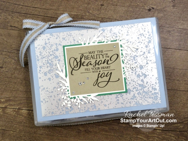 Click here to see more photos of this fun and easy gift container I made using the Frosted Frames Dies, Mercury Glass Designer Acetate, and a beautiful sentiment stamp image from the Merry Christmas to All Stamp Set. You'll also be able to access measurements, see other close-up photos, and get links to all the products I used. - Stampin' Up!® - Stamp Your Art Out! www.stampyourartout.com