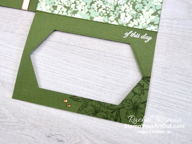 Click here to see more photos of this amazing Stitched Nested Reveal Card that I made with the Forever Blossoms Stamp Set, the Stitched Nested Labels Dies, and the Garden Lane Designer Paper. You'll also be able to access measurements and a link to a how-to video, see other close-up photos, and get links to all the products I used. - Stampin' Up!® - Stamp Your Art Out! www.stampyourartout.com