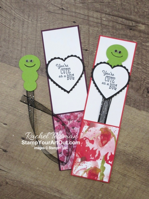 Here is a unique way to use the Snowman Builder Punch along with some new products debuting January 3rd: the Little Ladybug Stamp Set, the Peaceful Poppies Designer Paper, and the Heart Punch Pack. Click here to see some adorable z-fold cards and bookmarks that I made during my live broadcast. You'll be able to watch my video so you can see all my tips and tricks and get the step-by-step directions. You'll also be able to access measurements, see other close-up photos, and get links to all the products I used. - Stampin' Up!® - Stamp Your Art Out! www.stampyourartout.com