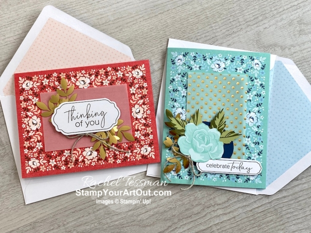 makes 5 cards Stampin Up Postal Card Kit