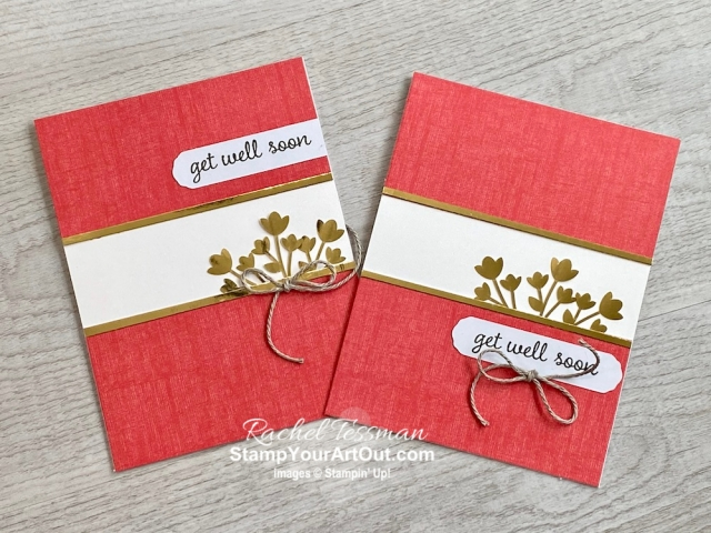 I tripled the cards in the Kerchief Card Kit (one of the free level 1 picks from the 2020 Sale-a-Bration brochure). I also made cute treat holders and shared all of these ideas during my Facebook live broadcast. You'll be able to watch my video so you can see all my tips and tricks and get the step-by-step directions. You'll also be able to access measurements, see other close-up photos, and get links to all the products I used. - Stampin' Up!® - Stamp Your Art Out! www.stampyourartout.com