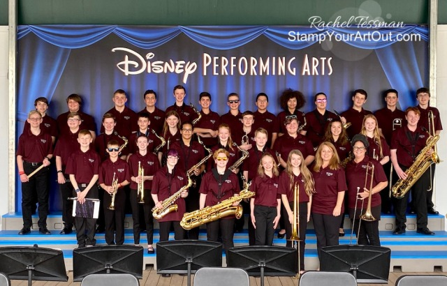 I accompanied my son Nick and his middle school jazz band to Disney! - Stampin' Up!® - Stamp Your Art Out! www.stampyourartout.com