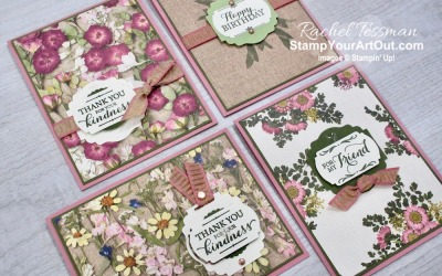 Label Me Punches with Pressed Petals