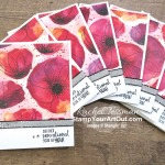 The Peaceful Poppies Designer Paper is stunning! Add a sentiment and a strip of ribbon and you have an instant card! Access measurements, directions, and a list of supplies I used linked to my online store. - Stampin' Up!® - Stamp Your Art Out! www.stampyourartout.com