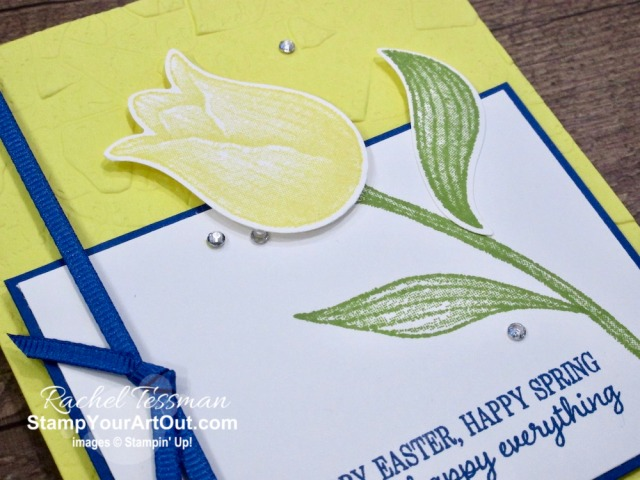 The Timeless Tulips Stamp Set and coordinating Tulip Builder Punch are amazing! It was super easy to make these two bright and cheerful Springtime greeting cards. Click here to see more photos, get measurements & directions, and shop for supplies from my online store so you can recreate them for yourself. - Stampin' Up!® - Stamp Your Art Out! www.stampyourartout.com