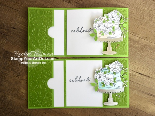 Click here to see how to make this awesome Bend Open Pocket Card with the Happy Birthday to You Stamp Set, Birthday Dies, Parisian Flourish Embossing Folder, Perennial Essence Vellum, Blends Markers, and a few rhinestones. You'll also be able to access measurements and a link to a how-to video, see other close-up photos, and get links to all the products I used. - Stampin' Up!® - Stamp Your Art Out! www.stampyourartout.com