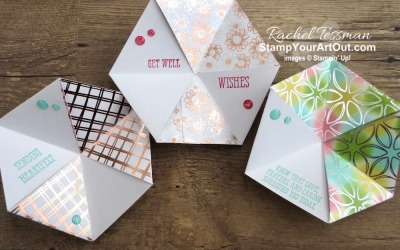 Flowering Foils & Lily Impressions Hexaflexagons
