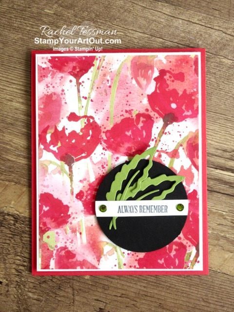 Three cards with the same basic layout featuring beautiful paper from Parisian Blossoms, Peaceful Poppies, and Lily Impressions. These cards prove that designer paper is meant to be used and not hidden away in a craft room. Access measurements, directions, and a list of supplies I used linked to my online store. - Stampin' Up!® - Stamp Your Art Out! www.stampyourartout.com