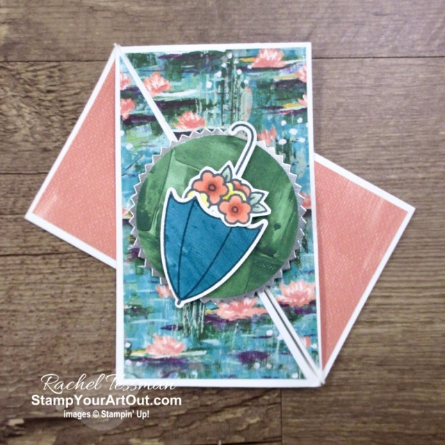 Maui Achievers Blog Hop March 2020: I created two more twisted gatefold cards featuring the Under My Umbrella stamp set and Umbrella Builder Punch. Click here to get the directions, measurements and supplies AND to see other great ideas shared by fellow Stampin' Up! demonstrators who also earned this fabulous incentive trip taking place in July 2020! - Stampin' Up!® - Stamp Your Art Out! www.stampyourartout.com