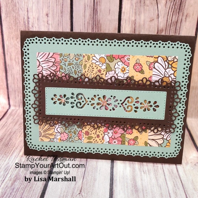 Click here to see photos of a few cards created with small strips of the new Ornate Garden Designer Paper. You'll also find measurements, supplies, and helpful tips for the card I created. - Stampin' Up!® - Stamp Your Art Out! www.stampyourartout.com