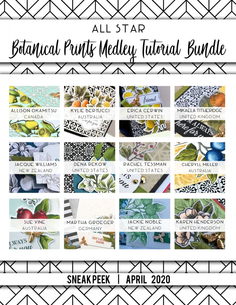 Here are the Botanical Prints All Star Tutorial Bundle Peeks. Place an order in the month of April 2020 and get this bundle of fabulous paper crafting project tutorials for free! Or purchase it for just $15. - Stampin' Up!® - Stamp Your Art Out! www.stampyourartout.com