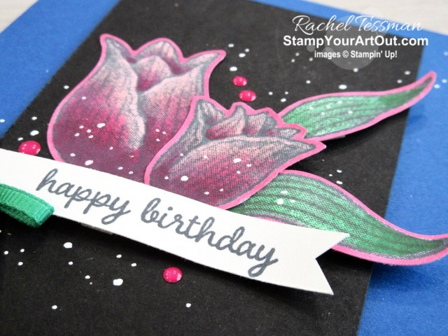 I'm excited to show you a fantastic and easy way to create color-popping images with the Timeless Tulips Stamp Set, Stampin' Blends Markers, and more! I got this great idea from Mitosucrafts.com and just had to share with all of you. Click here to access measurements, a how-to video with tips and tricks, see other close-up photos, and access links to all the products I used. - Stampin' Up!® - Stamp Your Art Out! www.stampyourartout.com