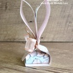 Cute bunny treats made with strips of designer paper. I got the idea from www.Creativeleeyours.com (Thanks Wendy!) Click here to see the measurements, a supply list, and a link to Wendy's post. - Stampin' Up!® - Stamp Your Art Out! www.stampyourartout.com