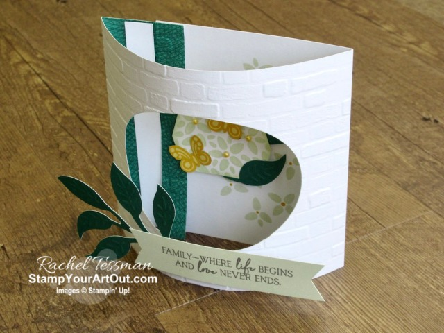 "Click here to see & get details for how to make an Arch Fold card and how to get 20 more cards from the extra pieces in your April 2020 My Wonderful Family Paper Pumpkin kit by adding a pack of Magnolia Lane Memories & More Large Specialty Cards & Envelopes. Plus you can see several other alternate project ideas created with this kit by fellow Stampin' Up! demonstrators in our blog hop: ""A Paper Pumpkin Thing""! - Stampin' Up!® - Stamp Your Art Out! www.stampyourartout.com"