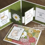 Here is an adorable W-Fold card using the This Little Piggy Stamp Set and the Ornate Garden Designer Paper. Click here to see two versions of this safe and healthy piggy card and access measurements, more photos, a how-to video with directions, and links to the products I used. - Stampin' Up!® - Stamp Your Art Out! www.stampyourartout.com