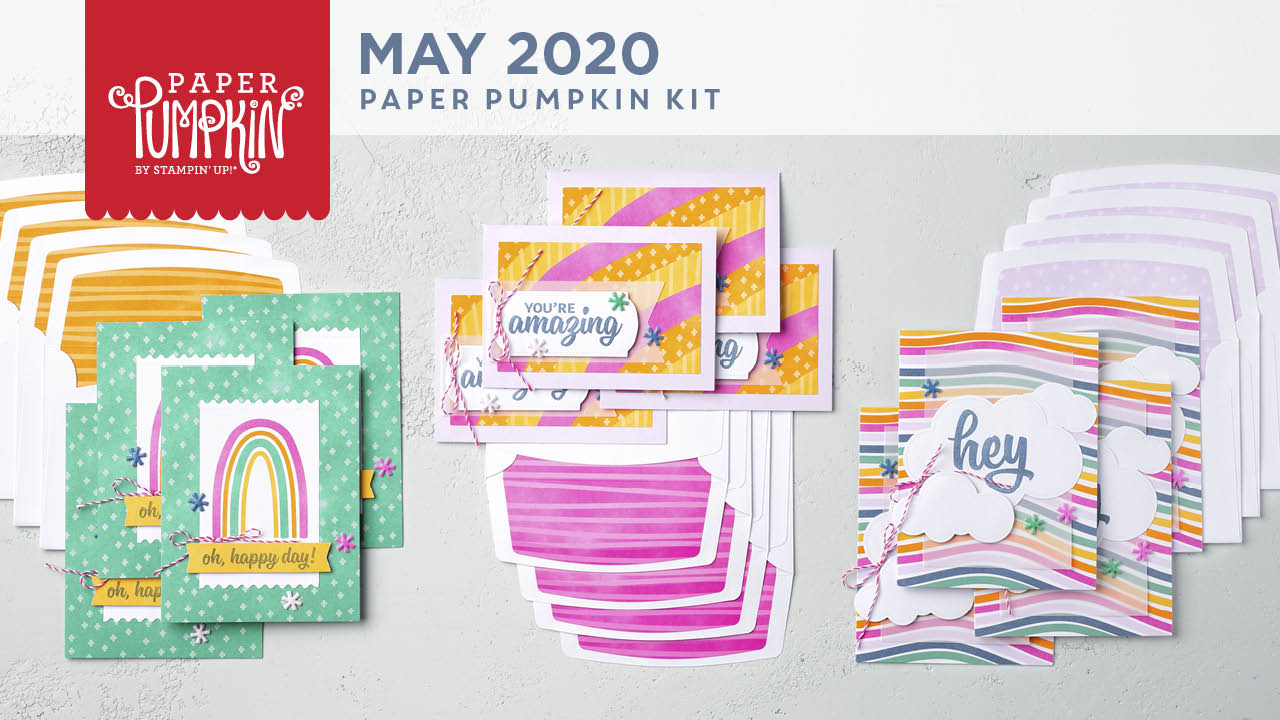 The May 2020 A Kit In Color Paper Pumpkin Kit. - Stampin' Up!® - Stamp Your Art Out! www.stampyourartout.com