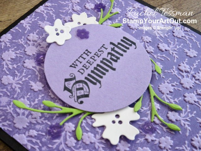 I'm excited to show you how to get a two-tone effect…inking up embossing folders to get impressed color. I used the new beautiful Ornate Borders dies and the Ornate Floral 3D Embossing Folder and paired them up with the Painted Glass Stamp Set and the Gingham Gala Adhesive Backed Sequins. Click here to access measurements, a how-to video with tips and tricks, see other close-up photos, and access links to all the products I used. - Stampin' Up!® - Stamp Your Art Out! www.stampyourartout.com