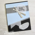 Click here to see photos of a few cards created by my demonstrator group using the same sketch challenge. You'll also find measurements, supplies, and helpful tips for the card I created with the By the Dock Stamp Set and Dockside Dies. - Stampin' Up!® - Stamp Your Art Out! www.stampyourartout.com