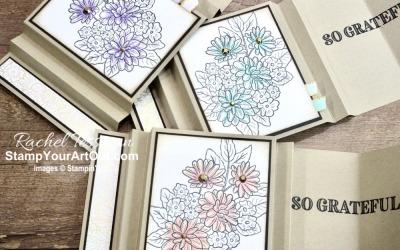 Ornate Garden Accordion Display Card