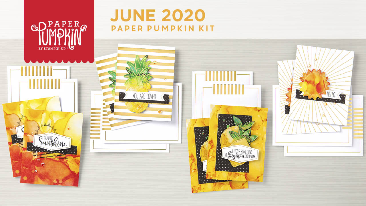 The June 2020 Box of Sunshine Paper Pumpkin Kit. - Stampin' Up!® - Stamp Your Art Out! www.stampyourartout.com