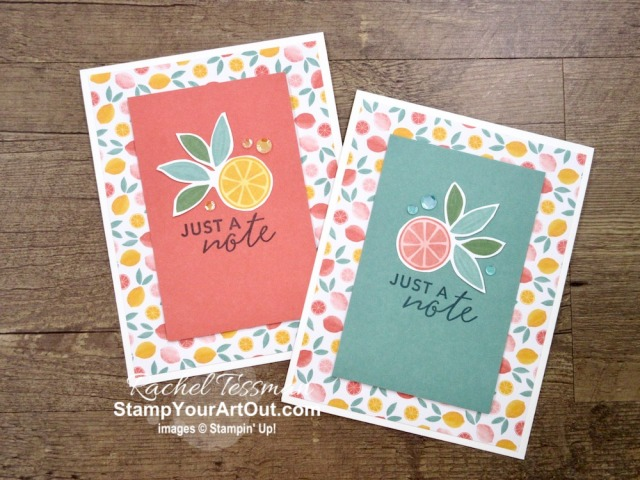 "I tripled the cards (to make 45 instead of 15) in the Simply Citrus Card Kit! By just adding a few basic supplies: Whisper White cardstock & envelopes, Artistry Blooms Sequins, Paper Trimmer, Paper Snips, and 2"" Circle Punch to this all-inclusive kit, you can really get the most out of it. Click here to access measurements, a how-to video with tips and tricks, other close-up photos, and links to all the products I used. - Stampin' Up!® - Stamp Your Art Out! www.stampyourartout.com"