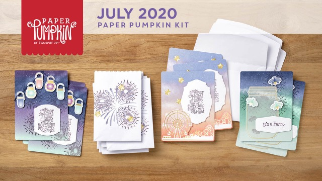 The July 2020 Summer Nights Paper Pumpkin Kit. - Stampin' Up!® - Stamp Your Art Out! www.stampyourartout.com
