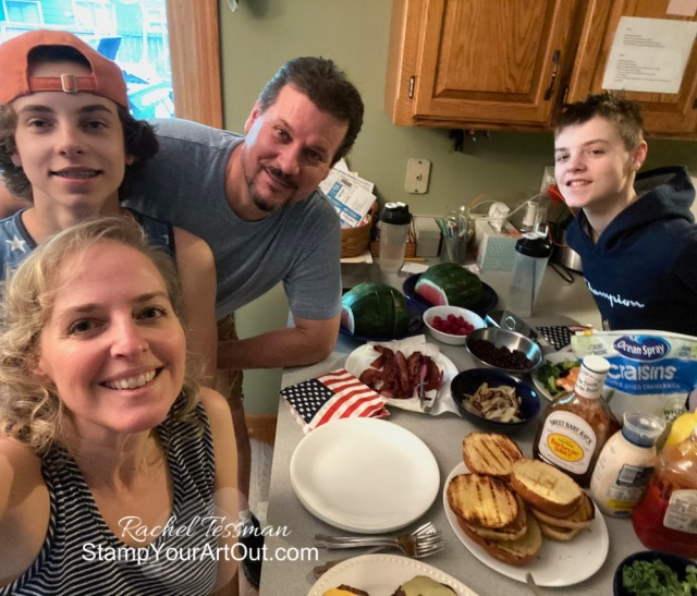 Happy 4th of July from my family to yours! Stampin' Up!® - Stamp Your Art Out! www.stampyourartout.com