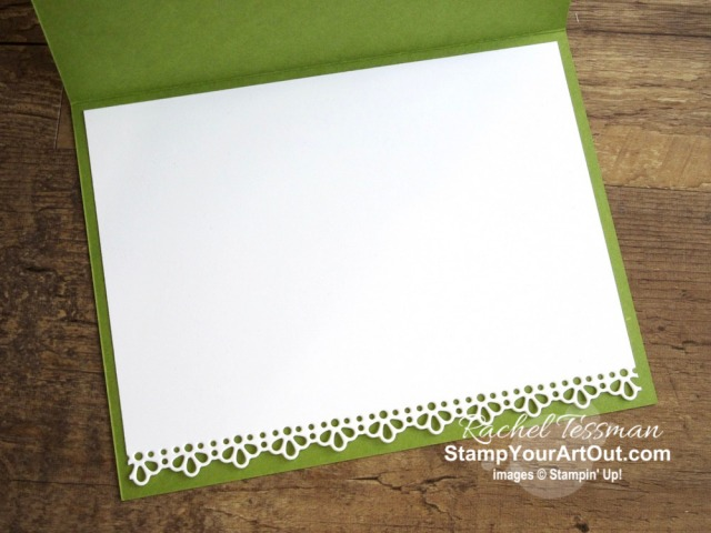 Here is a card I made with the Ornate Thanks Stamp Set, Ornate Borders Dies, Ornate Layers Dies, and Ornate Garden Designer Paper. Click here to see photos, get measurements & directions, and shop for supplies from my online store so you can recreate this card yourself. - Stampin' Up!® - Stamp Your Art Out! www.stampyourartout.com