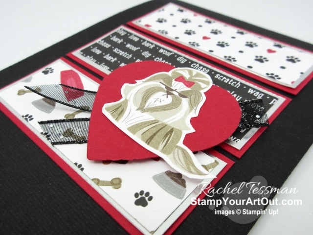 Click here to see photos of a few cards created by my demonstrator group using the same sketch challenge. You'll also find measurements, supplies, and helpful tips for the card I created with the Playful Pets Designer Paper. - Stampin' Up!® - Stamp Your Art Out! www.stampyourartout.com