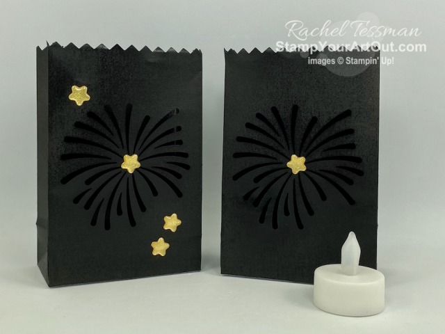 "Click here to see & get details for how to make place setting and lighting décor for a summer night backyard party from your July 2020 ""Summer Nights"" Paper Pumpkin kit and some extra product. Plus you can see several other alternate project ideas created with this kit by fellow Stampin' Up! demonstrators in our blog hop: ""A Paper Pumpkin Thing""! - Stampin' Up!® - Stamp Your Art Out! www.stampyourartout.com"